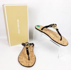 MICHAEL KORS Flip Flop Sandals MK Logo Charm